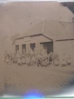 GRANDE PLAQUE PHOTO STEREO AMIENS BEAUVAIS FORGERON FABRIQUANT MACHINES AGRICOLES  MARECHAL FERRANT HENRY FRERES 803 - Fotos Estereoscópicas