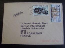18316- Haute Volta-Burkina Faso Lettre > France Affranchie Avec TP Thème Bateau, Moto - Ships