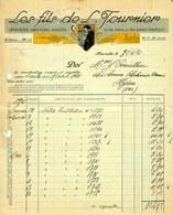 """Facture Decorative 1926 Marseille ( Bouches-Du-Rhone ) """" L. Tournier - Imprimerie,Papeterie,Gravure """" - Imprimerie & Papeterie"""