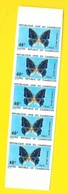 Bande 5 Timbres 40 F Papillons Non Dentelés  Cameroun - Cameroun (1960-...)