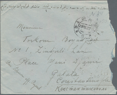 Georgien: 1922, Registered Cover Franked With 3x 2.000, 3x 3.000 And1.000 On 50, Sent To Galata Cons - Georgien
