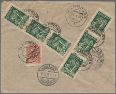 Georgien: 1922/23, Two Registered Covers And One Frontside All Franked With Revaluated Stamps From A - Georgien