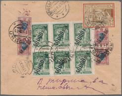 Georgien: 1923, Registered Cover Franked With 4x 15.000 Rub. On 15 Kop. Brown Coat Of Arms, Block Of - Georgien