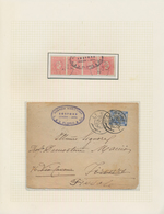 """Holyland: 1889-1922, Two Covers From Smyrne And Cairo With Oval Ship Agency Mark """"SOSFORD AGENZIA MA - Palästina"""