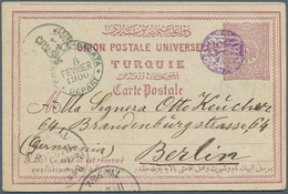 Holyland: 1899, BEYT LAHM TELGRAF VE POSTAHANESI 1311 (Isfila No.1, RR, BETHLEHEM) Clear Violet Canc - Palästina