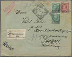 Holyland: 1908, Registered Cover Bearing Vertical Pair 10 Para On 5 C. Green And 20 Para On 10 C. Re - Palästina