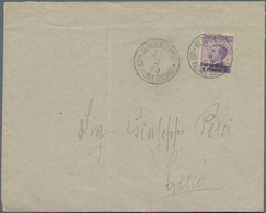 """Holyland: 1909, Cover Bearing 2 Pia. On 50 C. Violet For Double Weight Tied By """"GERUSALEMME 27/2/09 - Palästina"""