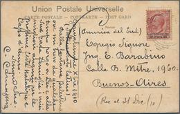 Holyland: 1910, Postcard Bearing 20 Para On 10c. Carmine Gerusalemme Issue Tied By Poor Gerusalemme - Palästina