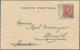 Holyland: 1910, Banque Imperial Ottomane Imprint Postcard Bearing 20 Para On 10c. Carmine Gerusalemm - Palästina