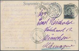 "Holyland: 1913, Postcard Bearing Single 30 Para On 15 C. Slate With Violet Overprint Tied By ""GERUSA - Palästina"