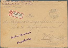 "Holyland: 1917, Registered Cover ""Portofreie Dienstsache"" From ""JERUSALEM FELDPOST MIL.MISSION 24.9. - Palästina"