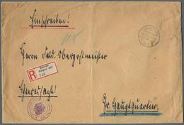 "Holyland: 1918, Large Registered Cover From Haifa With Fieldpost Mark ""Deutsche Feldpost 365 31.7.18 - Palästina"