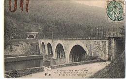MONTHERME - Pont Du Chemin De Fer Sur La Meuse - Entrée Du Tunnel De Deville - Montherme