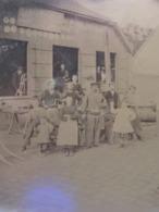 GRANDE PLAQUE PHOTO STEREO AMIENS BEAUVAIS FORGERON FABRIQUANT MACHINES AGRICOLES  MARECHAL FERRANT HENRY FRERES 804 - Photos Stéréoscopiques