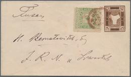 "Korea: 1895, 5 P. 1st Printing Tied ""Busan Kwangmu 2.2.19"" To Shanghai Local Post Envelope 4 C. (for - Korea (...-1945)"