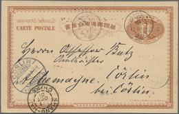 "Korea: 1901, UPU Card 4 Ch. Used ""SEOUL 26 SEPT 01"" Via Chemulpo And Shanghai French Office To Germa - Korea (...-1945)"