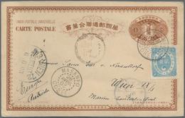 "Korea: MASANPO Latin Dater, 1901, UPU Card 4 Ch. Uprated Revised Ewha 2 Ch. Ligt Blue Canc. ""MASANPO - Korea (...-1945)"