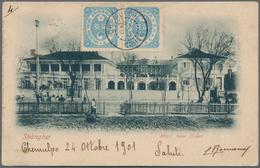 "Korea: 1901, Ewha Revised Design 2 Ch. (2) Tied ""CHEMULPO 25 OCT 01"" To Viewside Of Ppc (Shanghai Ho - Korea (...-1945)"