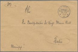 "Korea: 1903, Falcon 10 C. Tied ""SEOUL 2 MAR 04"" To Consulate Cover To Imp. German Command Of Cruiser - Korea (...-1945)"