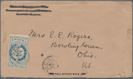 """Korea: 1903, Falcon 10 Ch. Blue Tied """"SEOUL 2 SEPT 04"""" To Cover To Bowling Green/OH, USA. Transit """"S - Korea (...-1945)"""