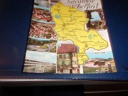 Cps Cpa    Territoire De Belfort   Carte Departement Divers Vues - Belfort - Ville