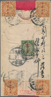 """Mongolei: 1912, China Shanghai Ovpt. 2 C. With Waterlow Ovpt. 1 C. (4) Tied """"URGA 2.4.12"""" (April 12, - Mongolei"""