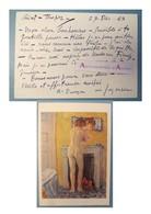 André DUNOYER DE SEGONZAC Peintre - Saint Tropez 1957 - Finaly - Né à Boussy-Saint-Antoine - Carte Lettre Autographe - Autographes