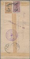 "Mongolei: 1932, 5 M./5 C. Greyish Purple With 20 M./20 C. Light Brown Canc. ""ULAN BATOR -.6.IX.32"" T - Mongolei"