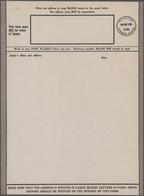 Palästina: 1944 Unused And Unfolded Airgraph 15 Mils Black, A Light Diagonal Fold, Very Rare - Palästina