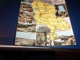 Cps Cpa    Territoire De Belfort   Carte Departement Divers Vues - Belfort - Stadt