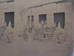 GRANDE PLAQUE PHOTO STEREO AMIENS BEAUVAIS FORGERON FABRIQUANT MACHINES AGRICOLES  MARECHAL FERRANT HENRY FRERES 807 - Fotos Estereoscópicas
