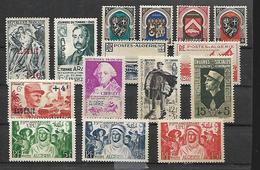 Algérie 1947  - 1954      Cat Yt N° 266    à    311  (sauf   N°  286, 297, 298   )  N**  MNH - Algerien (1924-1962)