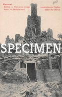 Ruins Shelters Built Under The Church -  Kemmel - Heuvelland