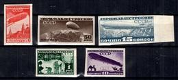 Russie Poste Aérienne YT N° 22/26 Non Dentelés Neufs *. B/TB. A Saisir! - Unused Stamps