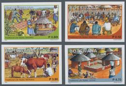 """Thematik: Landwirtschaft / Agriculture: 2004, Botswana. Complete Set """"Traditional Ways Of Life"""" (4 V - Landwirtschaft"""