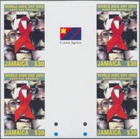 Thematik: Medizin, Gesundheit / Medicine, Health: 2005, JAMAICA: World AIDS Day $30 In An IMPERFORAT - Medizin