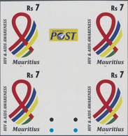 Thematik: Medizin, Gesundheit / Medicine, Health: 2011, MAURITIUS: HIV And Aids Awareness 7r. In An - Medizin