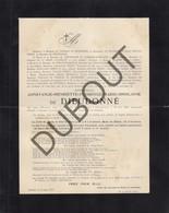 Doodsbrief Constance De DIEUDONNE °1835 Korbeek-Lo †1911 Leuven  (H211) - Overlijden