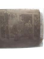 GRANDE PLAQUE PHOTO STEREO PHOTOGRAPHIE LES ENFANTS A LA BALANCOIRE  ET AU TRAPEZE 808 - Fotos Estereoscópicas