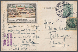 Thematik: Olympische Spiele / Olympic Games: 1919, Deutsches Reich, Privat-Postkarte 5 Pf Germania » - Olympische Spiele