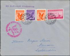 Thematik: Olympische Spiele / Olympic Games: 1936, Olympiafahrt Cover From Liechtenstein With Valuab - Olympische Spiele