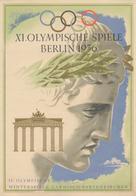 """Thematik: Olympische Spiele / Olympic Games: 1936, German Reich. Impression """"IV. Olympische / Winter - Olympische Spiele"""
