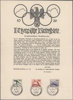 Thematik: Olympische Spiele / Olympic Games: 1936, Olympische Spiele Garmisch-Partenkirchen, Großfor - Olympische Spiele