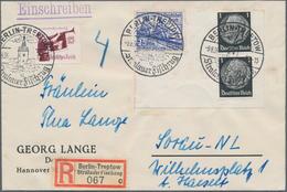 """Thematik: Olympische Spiele / Olympic Games: 1936, German Reich. Special Registration Label """"Berlin- - Olympische Spiele"""