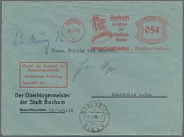 """Thematik: Olympische Spiele / Olympic Games: 1936, Dt. Reich. Freistempler """" 54 Pf Bochum 24.8.36 - - Olympische Spiele"""