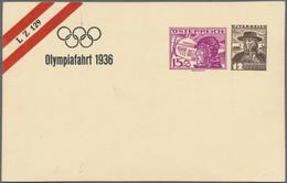 Thematik: Olympische Spiele / Olympic Games: OLYMPIADE 1936: Österreich, Privat-Ganzsachenkarte 15g+ - Olympische Spiele