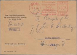 """Thematik: Olympische Spiele / Olympic Games: 1936, German Reich. Meter Stamp """"008 / Der Bezirksbürge - Olympische Spiele"""