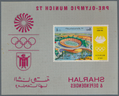 Thematik: Olympische Spiele / Olympic Games: 1972, Sharjah Munich 1972 Olympic Games S/S And Center - Olympische Spiele