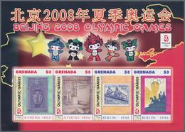 Thematik: Olympische Spiele / Olympic Games: 2008, GRENADA: Summer Olympics Beijing Complete Set Of - Olympische Spiele