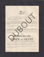 Doodsbrief Marie STORM De GRAVE °1836 † 1922 La Haye - Monsieur Edouard Van WICKEVOORT CROMMELIN (H210) - Overlijden